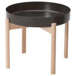 ЮППЕРЛИГ Журнальный стол, темно-серый, береза