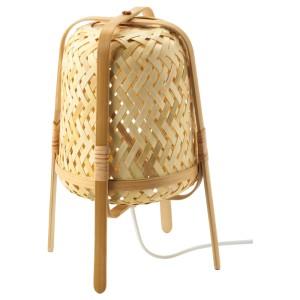 КНИКСХУЛЬТ Лампа настольная, бамбук
