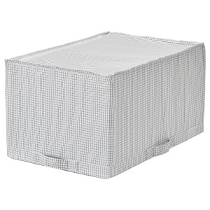 СТУК Сумка для хранения, белый/серый