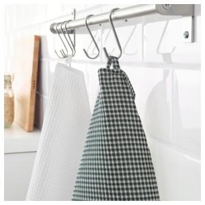 ТРОЛЛЬПИЛ Полотенце кухонное, белый, зеленый, 2шт