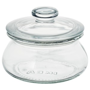 ВАРДАГЕН Банка с крышкой, прозрачное стекло
