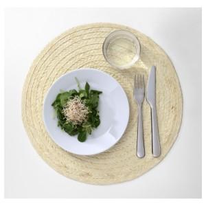 СЛУТЕН Салфетка под прибор, пальмовый лист, естественный