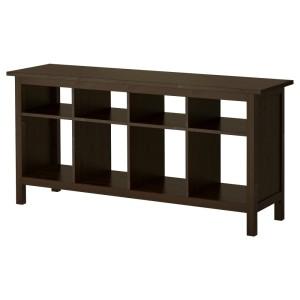 ХЕМНЭС Консольный стол, черно-коричневый