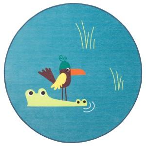 ДЬЮНГЕЛЬСКОГ Ковер безворсовый, птица, синий