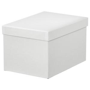 ТЬЕНА Коробка с крышкой, белый