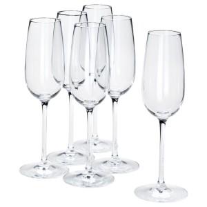 СТОРСИНТ Бокал для шампанского, прозрачное стекло, 6шт