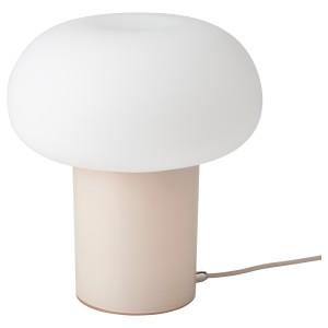 ДЕЙСА Лампа настольная, бежевый, молочный стекло
