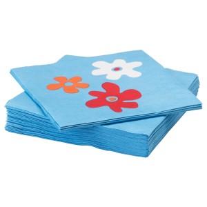 СОММАР 2019 Салфетка бумажная, цветок, синий, 30шт