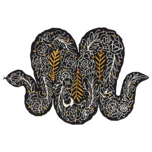 ИКЕА АРТ-ИВЕНТ 2019 Ковер, короткий ворс, черный, разноцветный