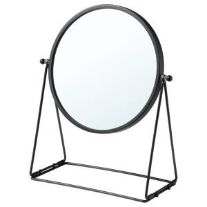 ЛАССБЮН Зеркало настольное, темно-серый