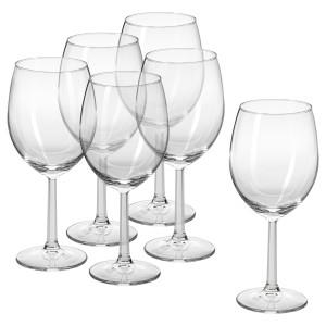 СВАЛЬК Бокал для вина, прозрачное стекло, 6шт