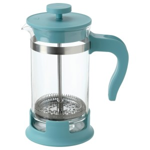 УПХЕТТА Кофе-пресс/заварочный чайник, стекло, темная бирюза