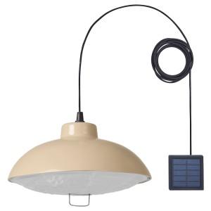 СОЛВИДЕН Подвесная светодиодная лампа, для сада, бежевый