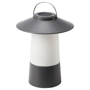 СОЛВИДЕН Светодиодный фонарь/солнечн батарея, темно-серый