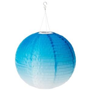 СОЛВИДЕН Подвесная светодиодная лампа, для сада, шаровидный синеватый оттенок