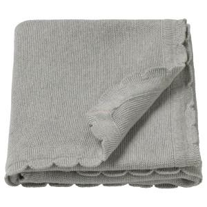 ЛЕН Одеяло детское, вязаный, серый