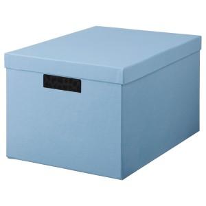 ТЬЕНА Коробка с крышкой, синий