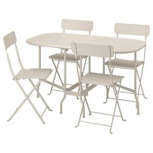 САЛЬТХОЛЬМЕН Стол+4 складных стула, д/сада