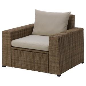 СОЛЛЕРОН Садовое кресло, коричневый, Холло бежевый