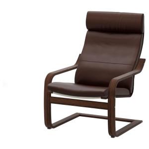 ПОЭНГ Кресло, коричневый, Глосе темно-коричневый