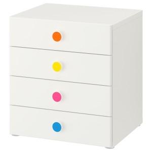 СТУВА / ФОЛЬЯ Комбинация для хранения с ящиками, белый
