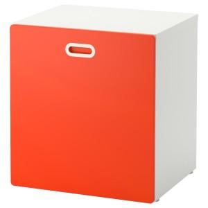 СТУВА / ФРИТИДС Модуль для игрушек, на колесиках, белый, красный