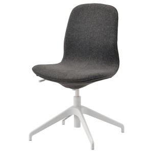 ЛОНГФЬЕЛЛЬ Конференц-стул, Гуннаред темно-серый, белый