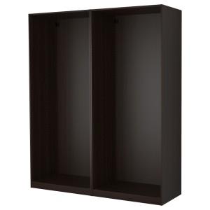ПАКС 2 каркаса гардеробов, черно-коричневый