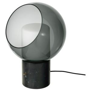ЭВЕДАЛЬ Лампа настольная, серый мрамор, шаровидный серый шаровидный