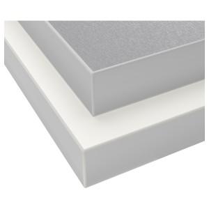 ХЭЛЛЕСТАД Столешница, двусторонняя, белый под алюминий, под алюминий с окантовкой под металл с окантовкой под металл ламинат