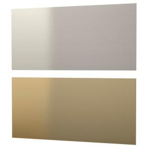 ЛИЗЕКИЛЬ Настенная панель, двусторонний желтая медь, цвет нержавеющей стали, 1.196м