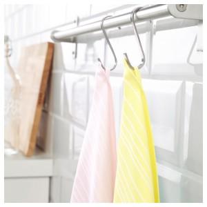 ТИМВИСАРЕ Полотенце кухонное, желтый, светло-розовый, 2шт