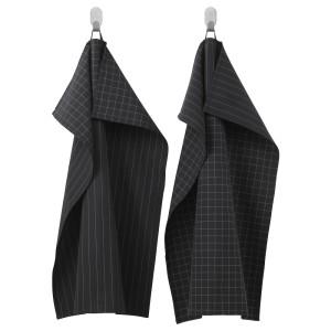 ИКЕА/365+ Полотенце кухонное, черный, 2шт