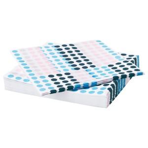 ФРАМКЭЛЛА Салфетка бумажная, разные цвета, 30шт