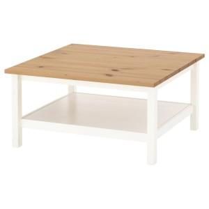 ХЕМНЭС Журнальный стол, белая морилка, светло-коричневый