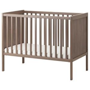 СУНДВИК Кроватка детская, серо-коричневый