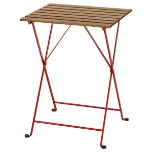 ТЭРНО Садовый стол, красный, светло-коричневая морилка