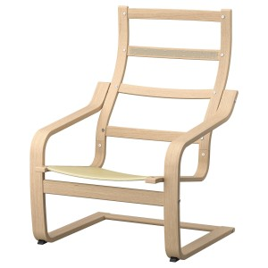 ПОЭНГ Каркас кресла, дубовый шпон, беленый