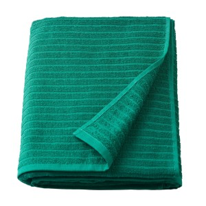 ВОГШЁН Простыня банная, темно-зеленый