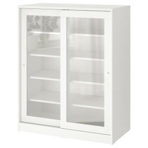 СЮВДЕ Шкаф со стеклянными дверцами, белый