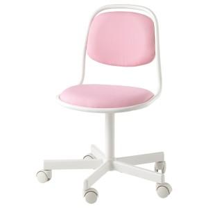 ОРФЬЕЛЛЬ Детский стул д/письменного стола, белый, Висле розовый