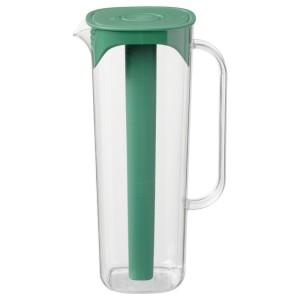 МОППА Кувшин с крышкой, зеленый, прозрачный