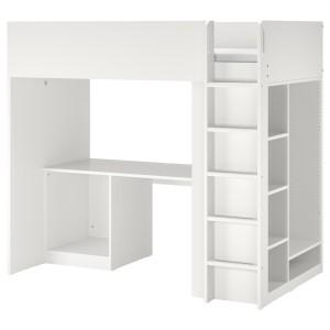 СМОСТАД Каркас кровати-черд+стол/мод д/хр, белый