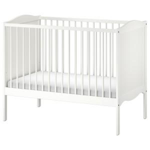 СМОГЁРА Кроватка детская, белый