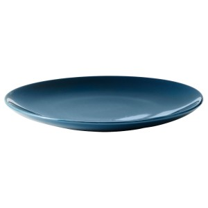 ФЭРГРИК Тарелка десертная, каменная керамика, темная бирюза