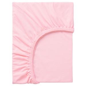 ЛЕН Простыня натяжная, розовый, 1шт