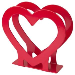 ВИНТЕР 2020 Салфетница, в форме сердца красный