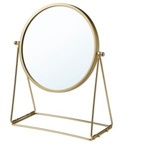 ЛАССБЮН Зеркало настольное, золотой