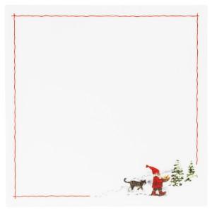 ВИНТЕР 2020 Салфетка под приборы, орнамент «Санта Клаус» белый/красный