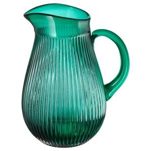 СЭЛЛЬСКАПЛИГ Кувшин, с рисунком, зеленый